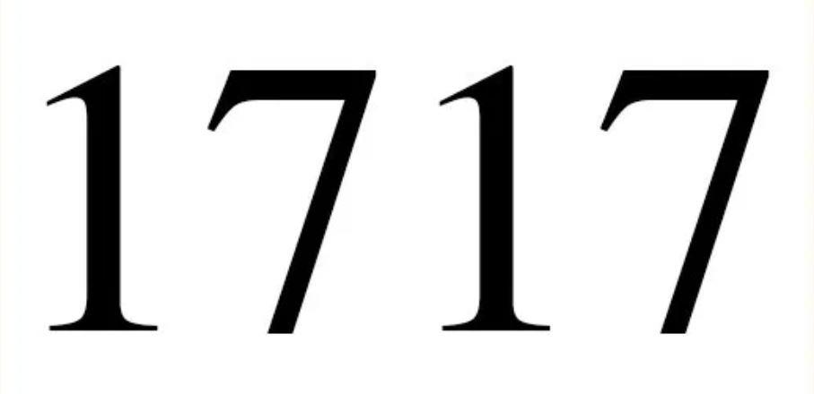 Numerologie 1717