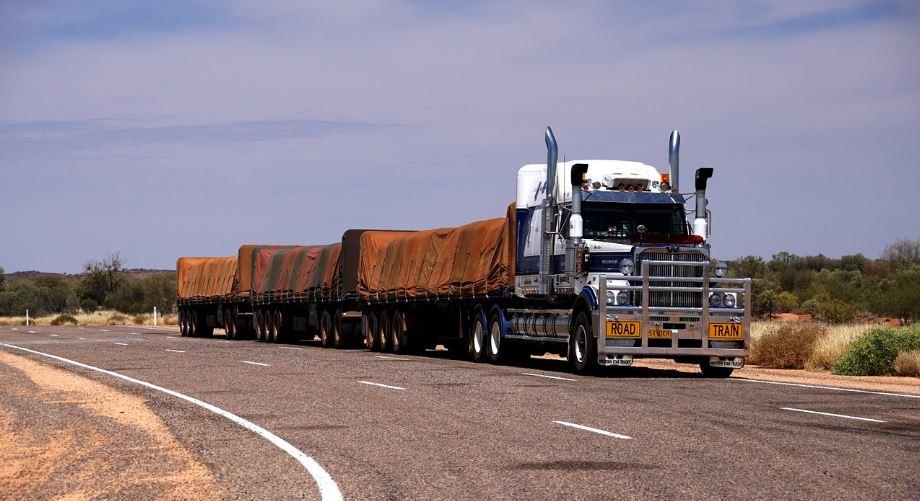Dromen over vrachtwagen