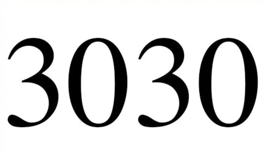 Numerologie 3030