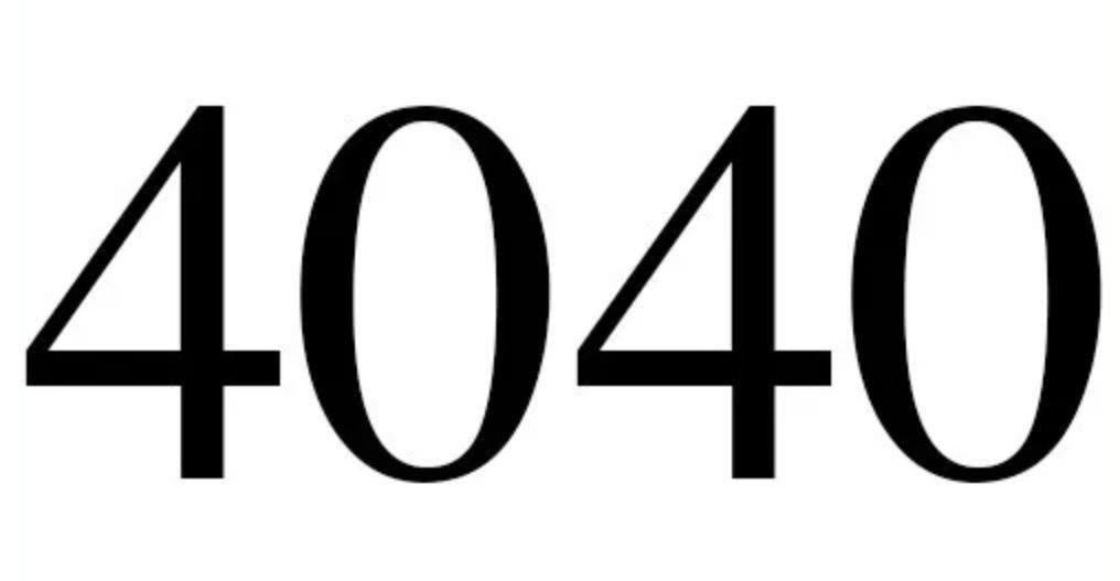 Numerologie 4040