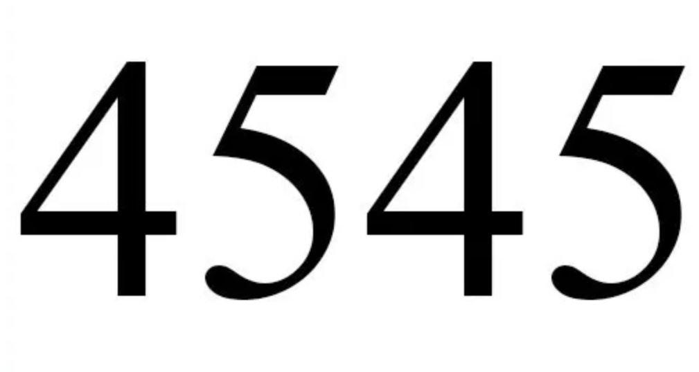 Numerologie 4545