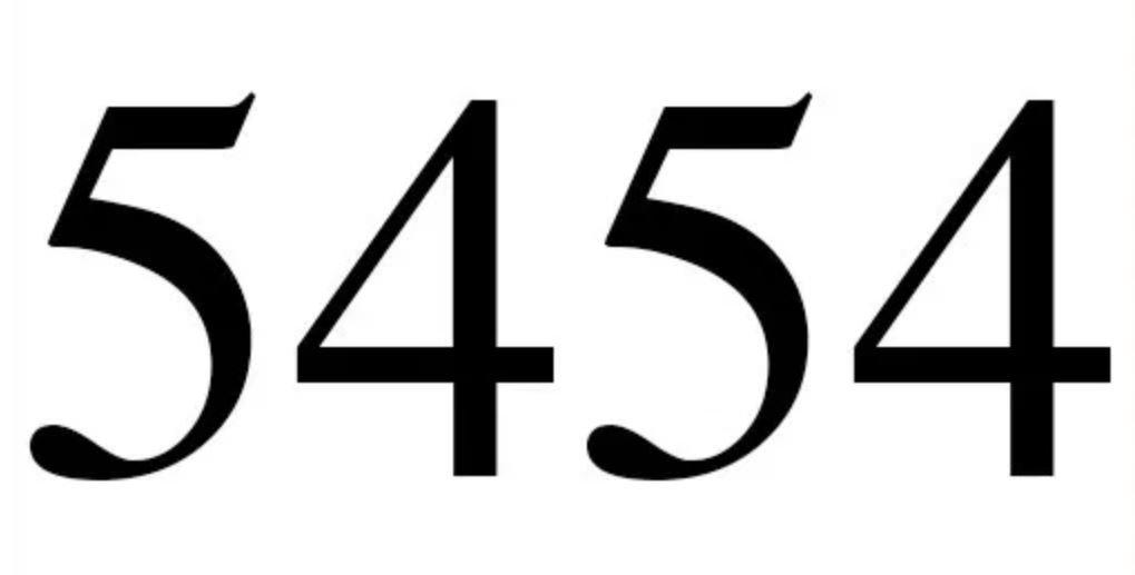Numerologie 5454