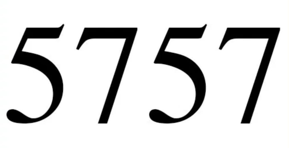 Numerologie 5757