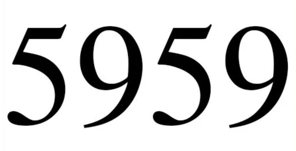 Numerologie 5959