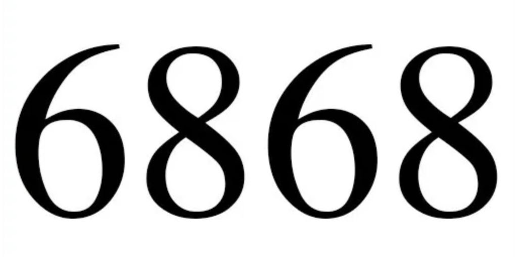 Numerologie 6868