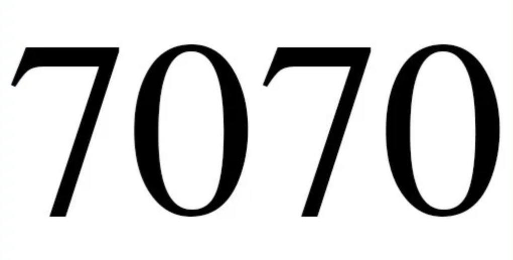 Numerologie 7070