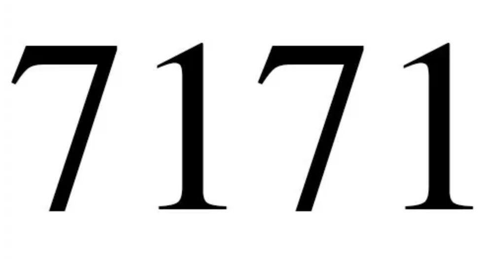 Numerologie 7171