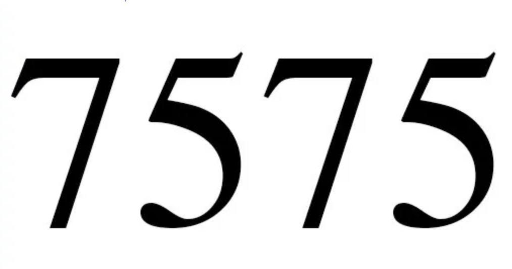 Numerologie 7575