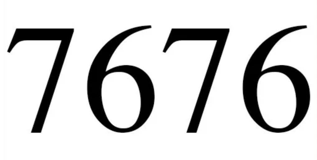 Numerologie 7676