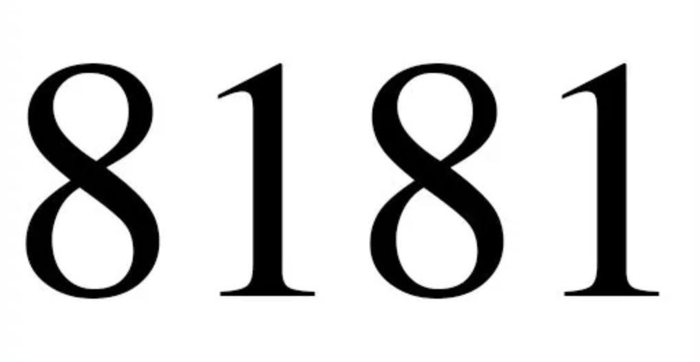 Numerologie 8181