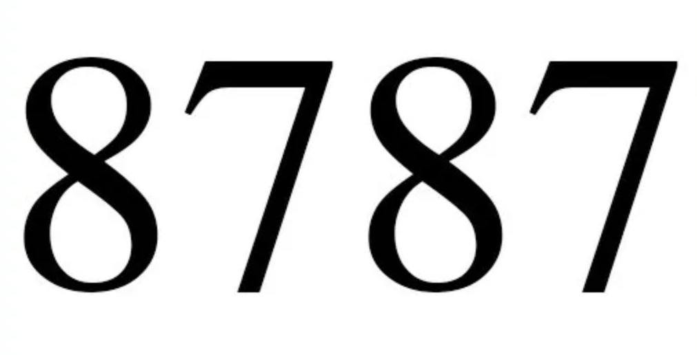 Numerologie 8787