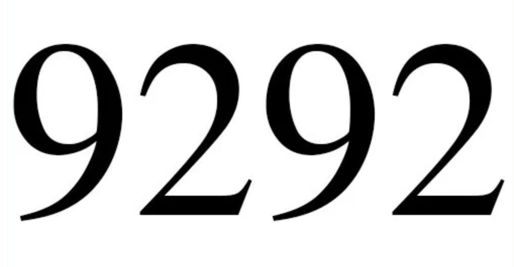 Numerologie 9292