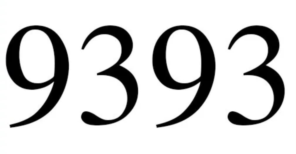 Numerologie 9393
