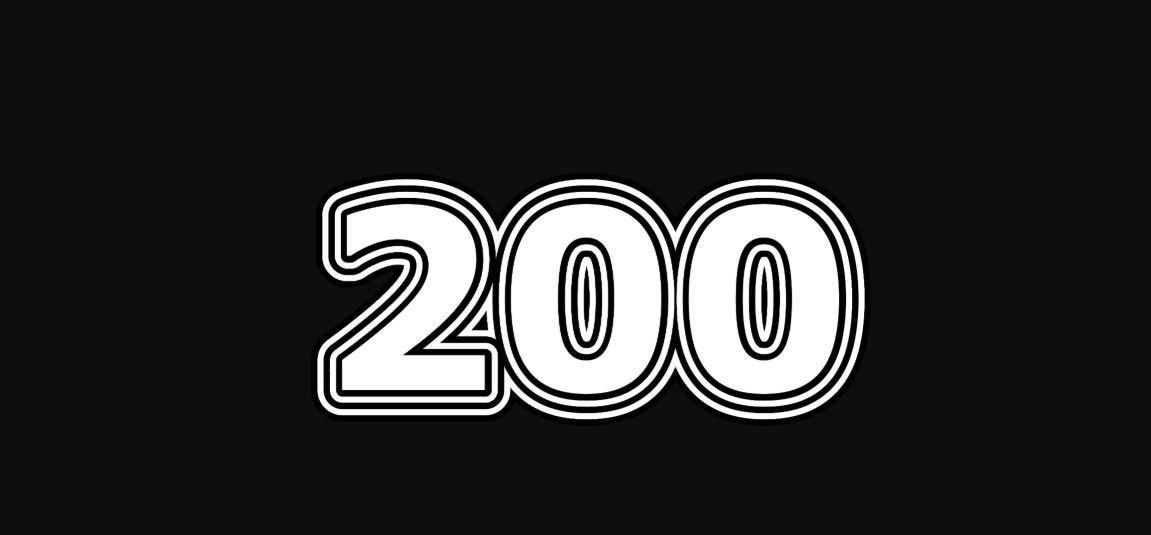 Engelengetal 200