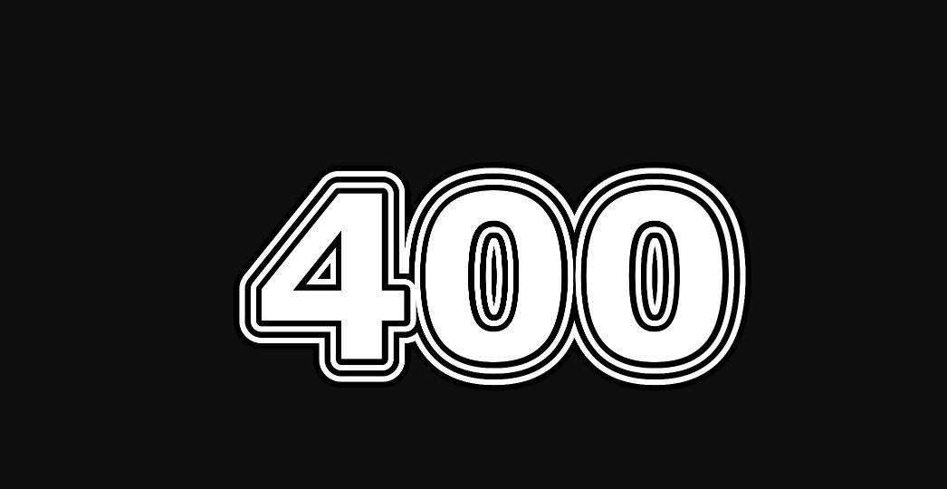 Engelengetal 400