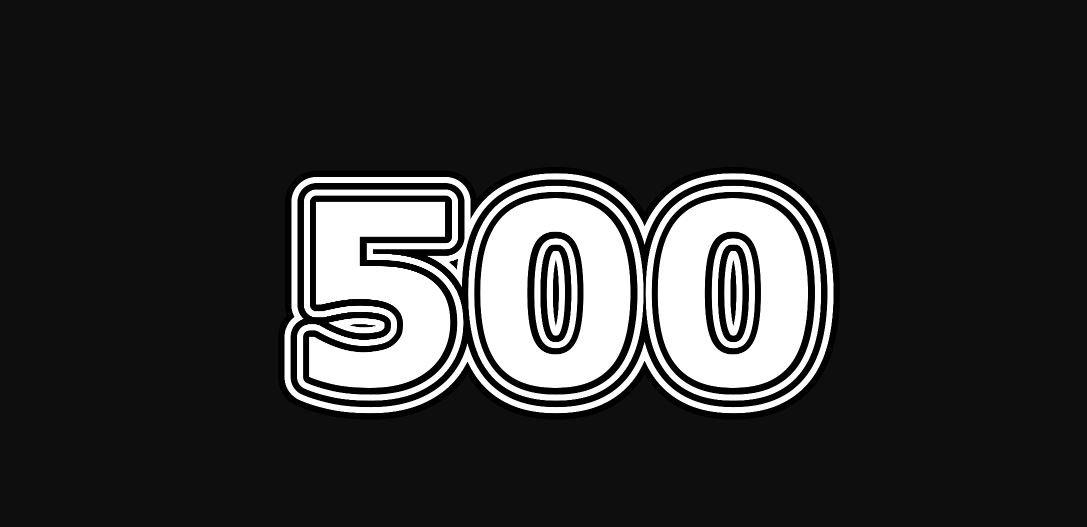 Engelengetal 500