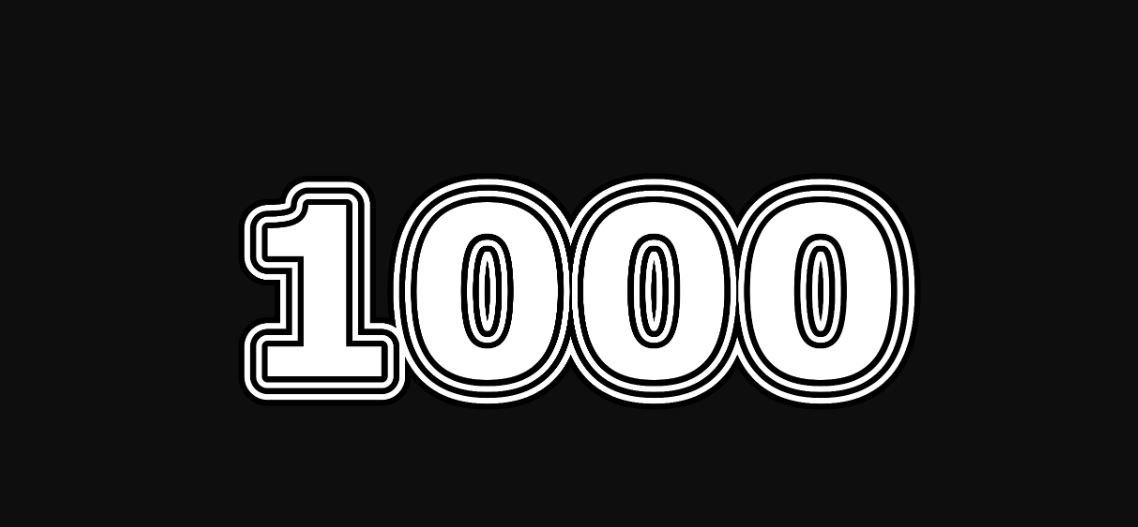 Engelengetal 1000