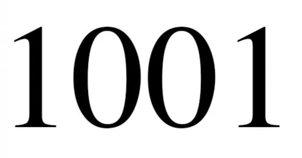 Engelengetal 1001