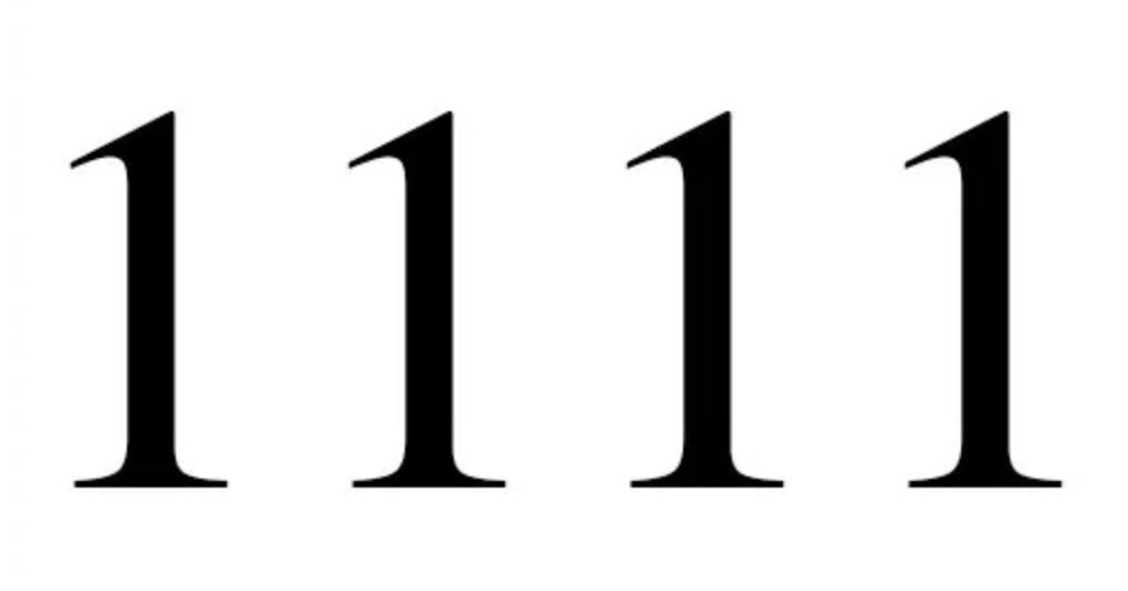 Engelengetal 1111