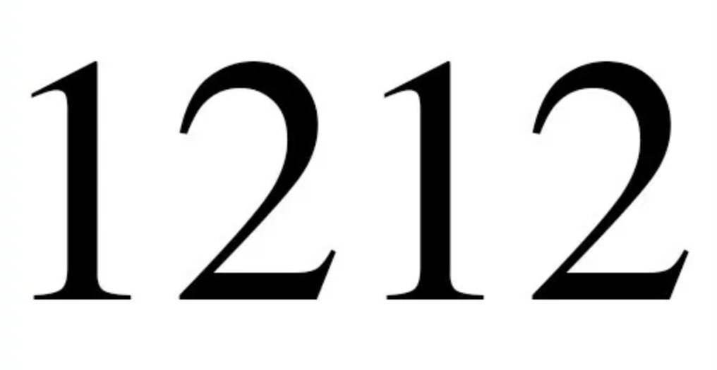 Engelengetal 1212