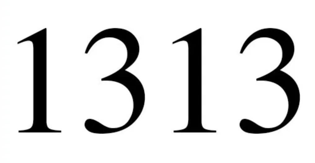 Engelengetal 1313