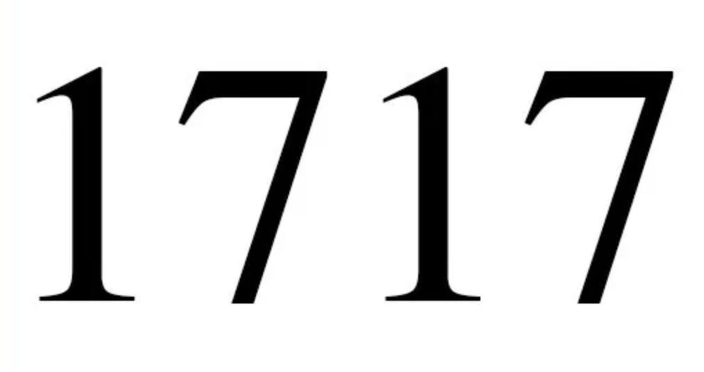 Engelengetal 1717