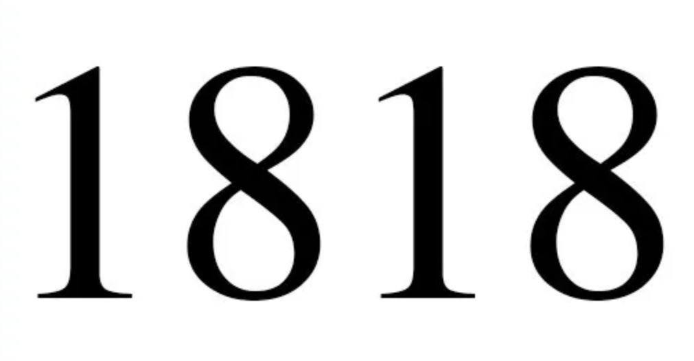 Engelengetal 1818