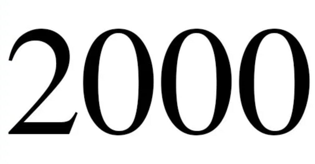 Engelengetal 2000
