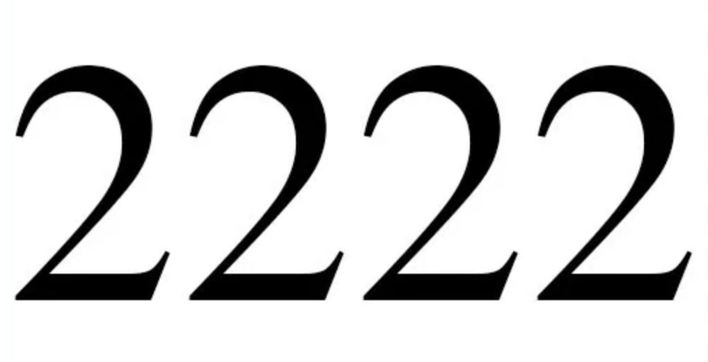Engelengetal 2222