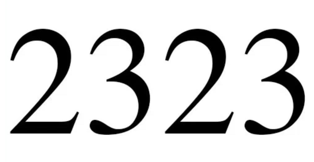 Engelengetal 2323