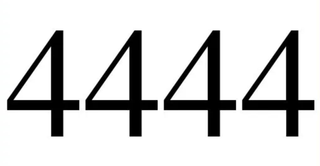 Engelengetal 4444