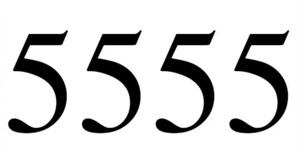 Engelengetal 5555