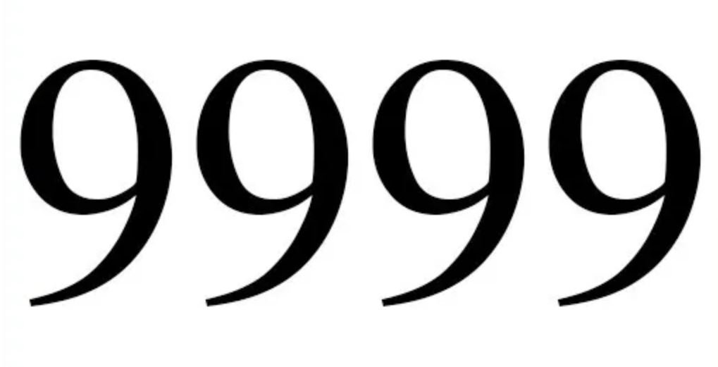 Engelengetal 9999