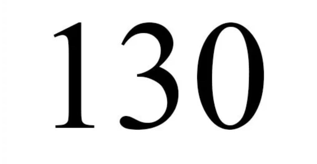 Numerologie 130