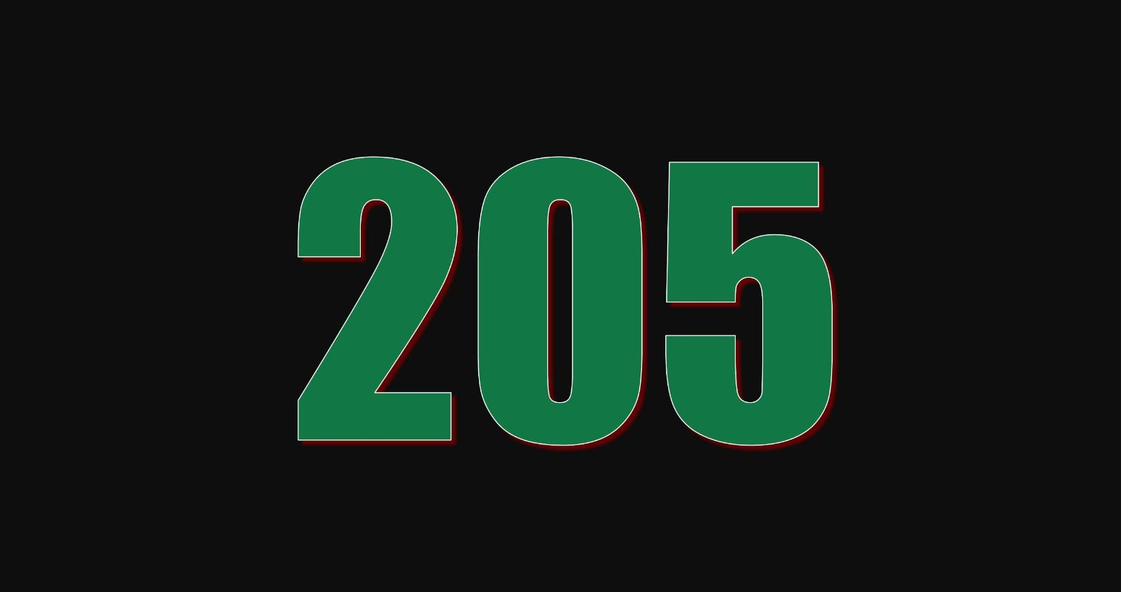 Numerologie 205