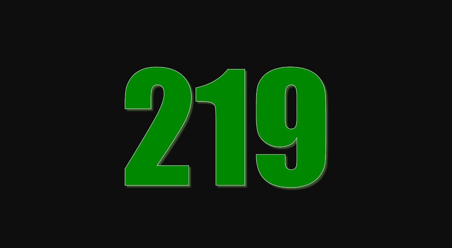 Numerologie 219
