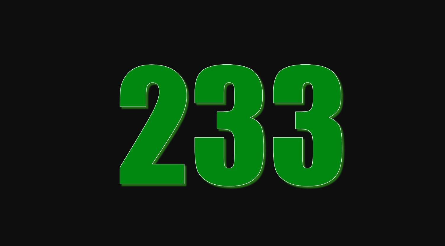 Numerologie 233