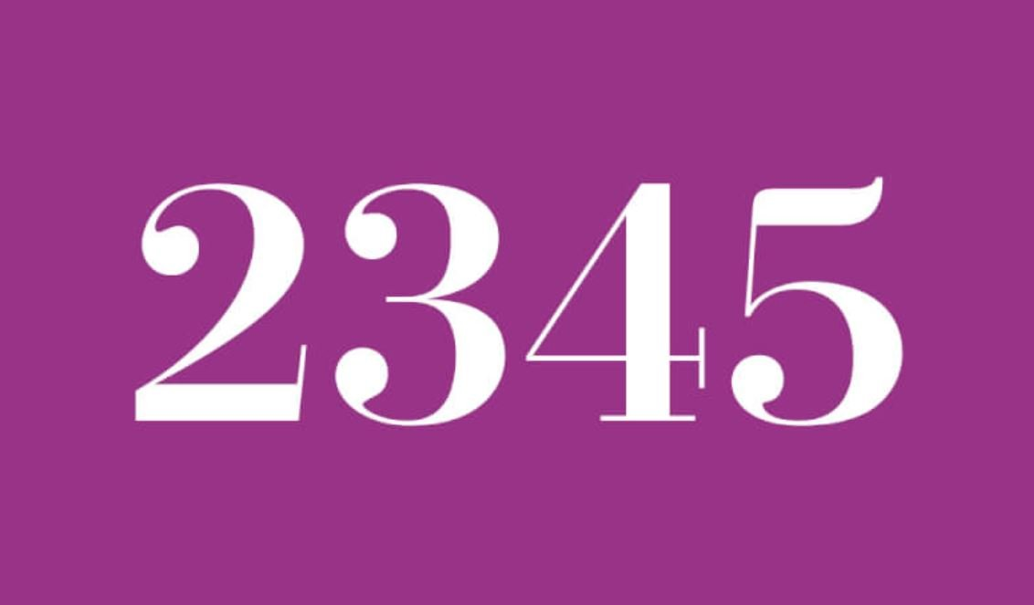 Numerologie 2345