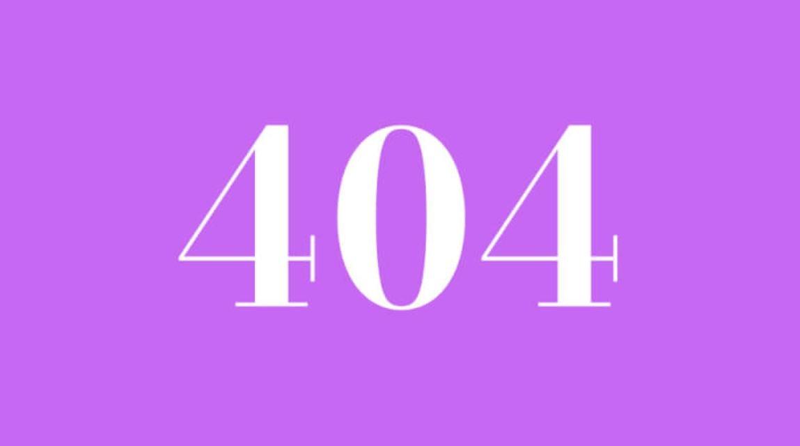 Numerologie 404