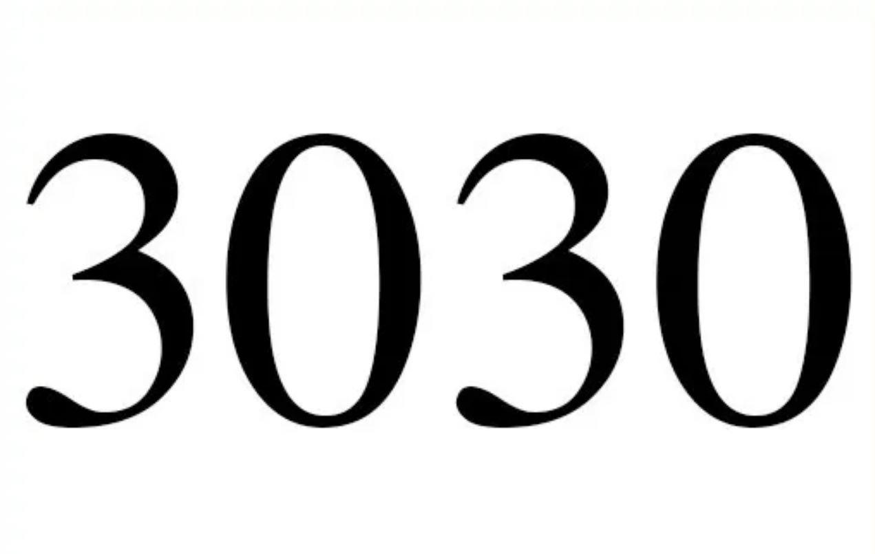 Engelengetal 3030